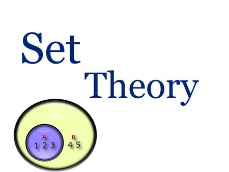 Set Theory. What is a set?  Sets are used to define the concepts of relations and functions. The study of geometry, sequences, probability, etc. requires.