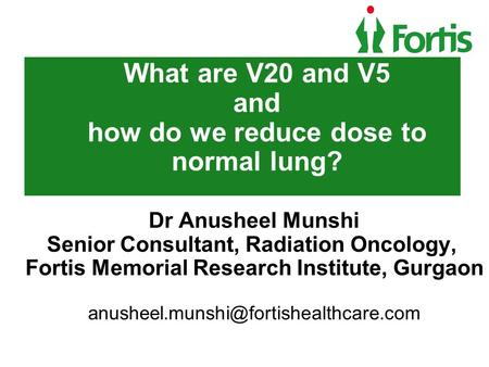 What are V20 and V5 and how do we reduce dose to normal lung?