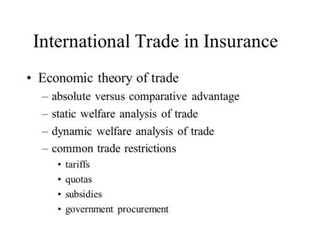 absolute advantage theory analysis Theory of international trade  but international trade enables a country to produce only those goods in which it has a comparative advantage or an absolute .