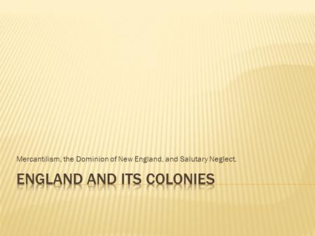 England and Its Colonies