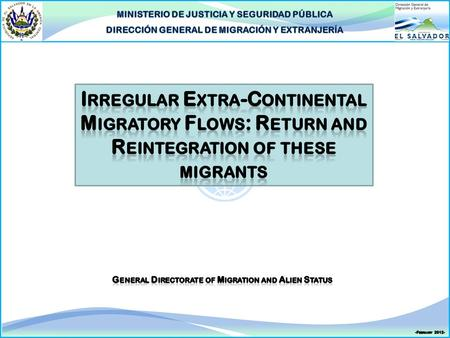Introduction  The flows of extra-continental foreign nationals who enter Central America, Panama, and Mexico both regularly and irregularly (all destined.