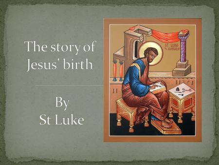 The story of Jesus' birth