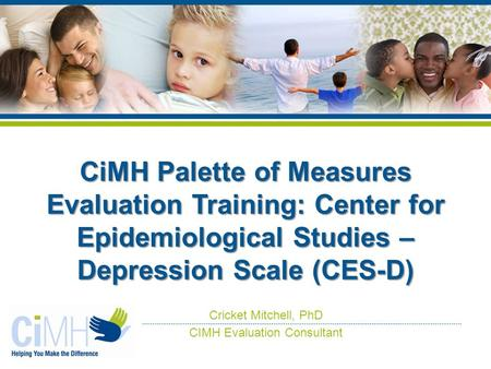 Center for Epidemiological Studies Depression Scale - an ...