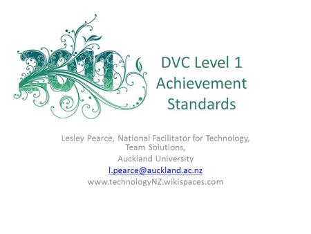 DVC Level 1 Achievement Standards
