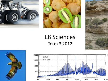 L8 Sciences Term 3 2012. Intended Outcomes Explore the L3 stds & their implications for – Course planning – Tasks – Teaching & learning NoS in Investigations.