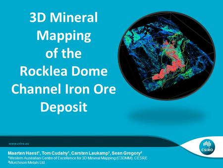 3D Mineral Mapping of the Rocklea Dome Channel Iron Ore Deposit