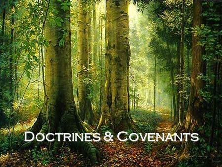 Doctrines & Covenants. Read each book's title and tell what you think the book contains.