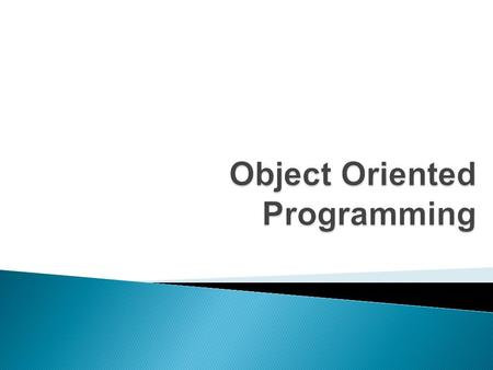 Object Oriented Programming.  Exception Handling.