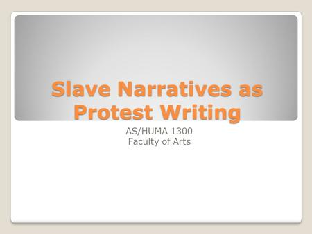 the power of slave narratives essay From 1830 to the end of the slavery era, the fugitive slave narrative dominated economic power the most popular slave narratives, such as narrative of.