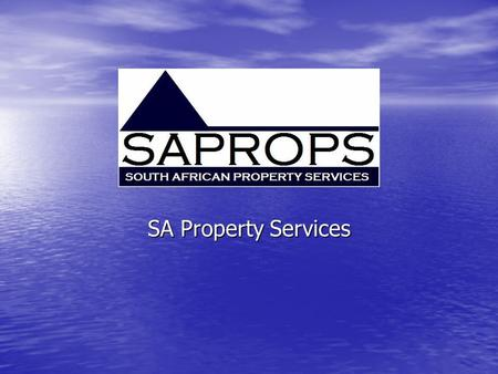 SAPROPS SA Property Services. AGENDA Background + Research Background + Research Independent Agency Needs Independent Agency Needs SAPROPS Services SAPROPS.