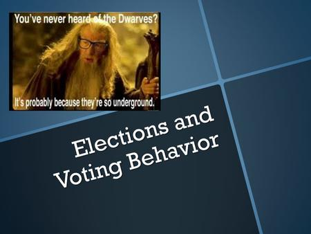 Elections and Voting Behavior. Can you vote?!  Suffrage – The right to vote.  Who can't vote in the U.S?  Incarcerated criminals  Non-citizens (immigrants)