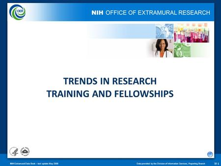 NIH Extramural Data Book – last update May 2008Data provided by the Division of Information Services, Reporting Branch TF 1 TRENDS IN RESEARCH TRAINING.