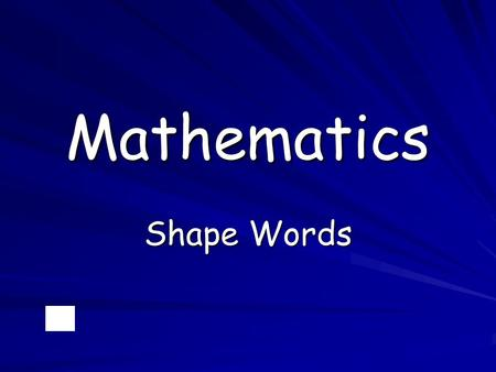 Mathematics Shape Words. line segment ray.