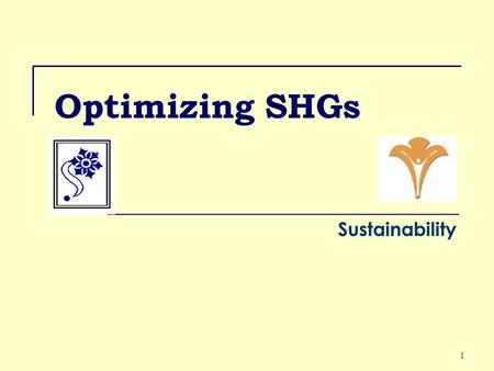 1 Optimizing SHGs Sustainability. 2 Who Maintains Books In AP, the books are maintained by Office Bearer – paid or unpaid. In other three states by SHPA.