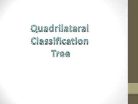 Quadrilateral Classification Tree.