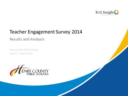 Teacher Engagement Survey 2014