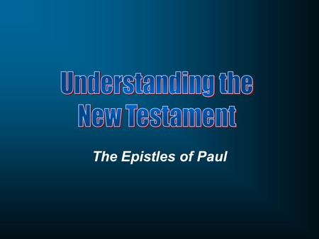The Epistles of Paul. How did Paul utilize the Old Testament without moving into legalism?