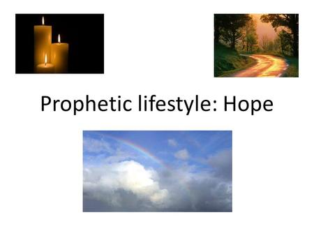 "Prophetic lifestyle: Hope. We all need hope Crushed spirit ""A man spirit sustains him in sickness, but a crushed spirit who can bear?"" Prov 18: 14 Story:"