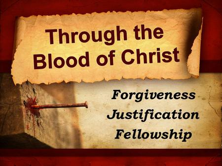 Through the Blood of Christ