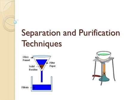 Separation and Purification Techniques. Soft ToysGamesBooks.