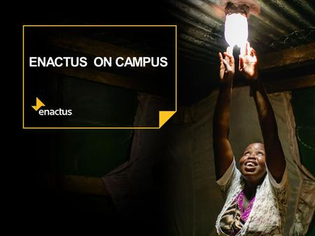 ENACTUS ON CAMPUS. WHAT MAKES A GREAT TEAM? What characteristics are shared by successful Enactus teams? ?