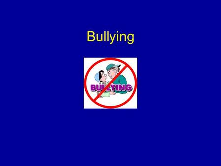 Bullying Welcome all participants to the presentation. Introduce yourself and share your background in working with child safety issues. Mention that.