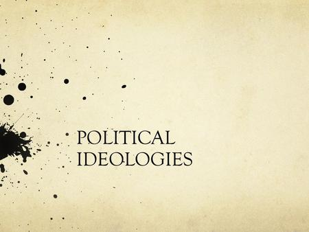 "POLITICAL IDEOLOGIES. The term ideology was first used in 1796 by Destutt de Tracy. He argued that ""idea-logy"" means a new ""science of ideas"" like biology."