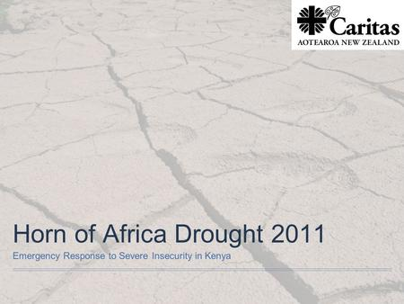 Horn of Africa Drought 2011 Emergency Response to Severe Insecurity in Kenya.