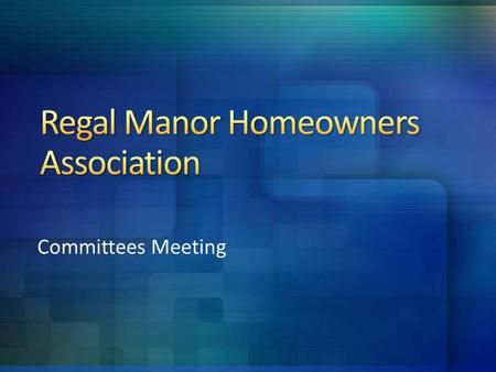 Committees Meeting. Call to order Welcome Introductions Agenda Q & A.