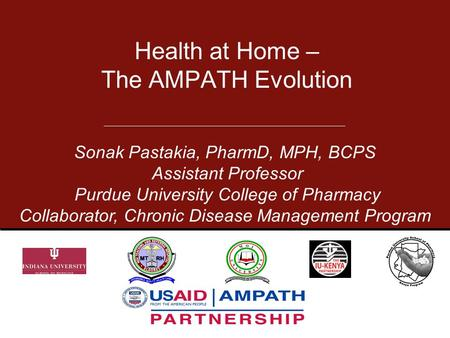 Health at Home – The AMPATH Evolution