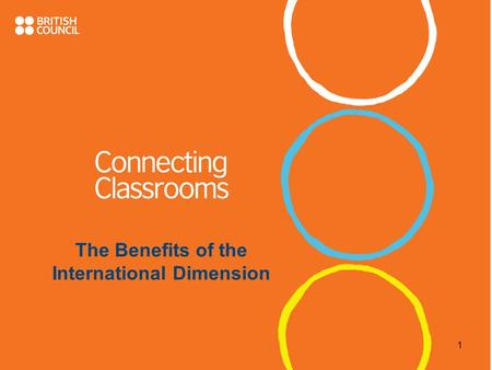 The Benefits of the International Dimension 1. OBJECTIVES To reflect on: 1.What is meant by the International Dimension 2.What the benefits to the school.