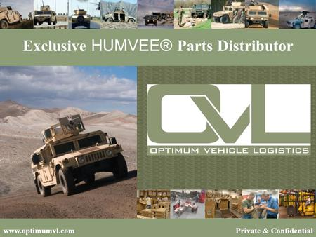 Exclusive HUMVEE® Parts Distributor