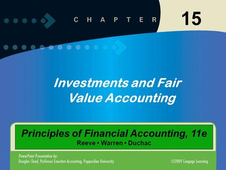 15 Investments and Fair Value Accounting