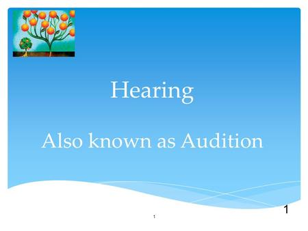1 Hearing Also known as Audition 1. Sound waves are composed of compression and expansion of air molecules. The Stimulus Input: Sound Waves Acoustical.