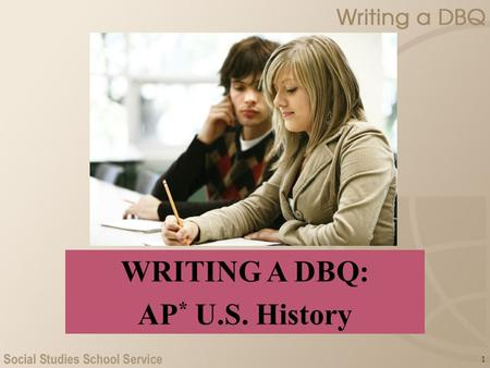 1 WRITING A DBQ: AP * U.S. History. 2 What Is a DBQ? An essay question that asks you to take a position on an issue that has several possible answers.