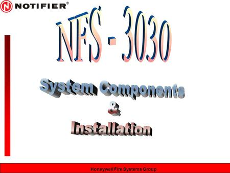 NFS - 3030 System Components & Installation.
