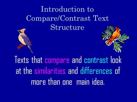 transition words for a compare and contrast essay