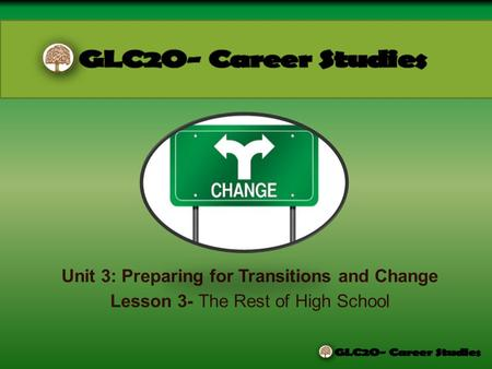 Unit 3: Preparing for Transitions and Change Lesson 3- The Rest of High School.