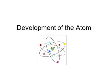 a history of the discovery and development of the atom Chapter 61 quiz - development of the atomic theory tools copy this to my  account e-mail to a friend find other activities start over print help  ravinder.