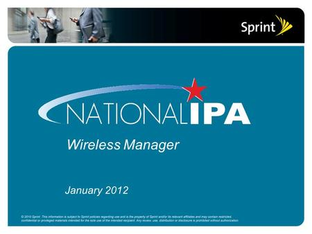 Wireless Manager January 2012. What is Wireless Manager? A web based tool designed for wireless portfolio management  Custom ordering portal  Ticketing.