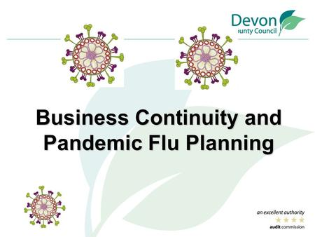 Business Continuity and Pandemic Flu Planning