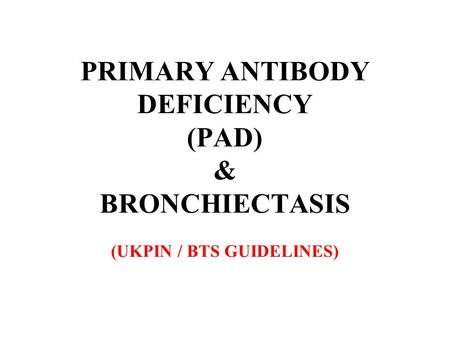 BRONCHIECTASIS A destructive lung disease characterised by: