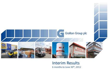 Interim Results 6 months to June 30 th, 2012. Highlights Group revenues up 5% to €1.05bn Exchange rate benefit Underlying operating profit up 19% to €31.3.