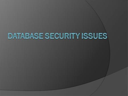 Database  A database is an organized collection of data for one or more purposes, usually in digital form. The data are typically organized to model.