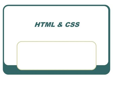 HTML & CSS. Objectives HTML Block | Inline elements Visual | Structural markup Project portfolio page.