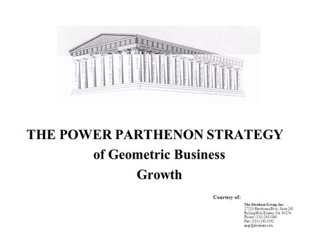 of Geometric Business Growth