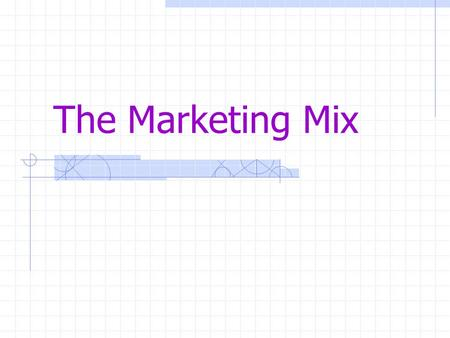 The Marketing Mix. Marketing Defined Marketing refers to all of the business activities necessary to establish and maintain positive relationships with.