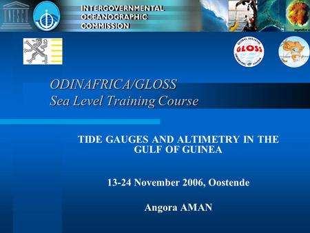ODINAFRICA/GLOSS Sea Level Training Course
