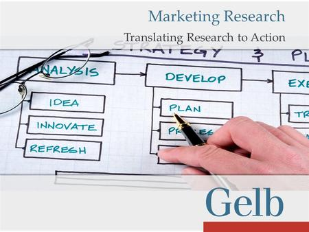 Translating Research to Action Marketing Research.