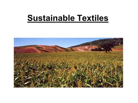 Sustainable Textiles. DMJM Sponsored by: MTS is comprised of leading environmental groups, governments, & companies A nonprofit public charity.